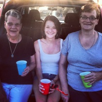 Three generations: Grandma, Myself, Mom  (Jason Aldean & Luke Bryan, Summer 2013)