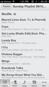 Today's :30 playlist
