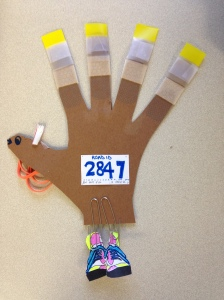 No longer will my hand turkey be covered in Band-Aids - I'm not technically injured!