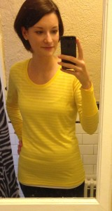 Received my Oiselle striped scoop tee and I am in love.