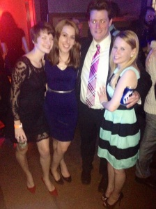 A little blurry (men can't take photos) but myself, Darci, John, and Kiera