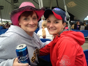 One day I only worked three hours and drank beverages with my Mom at a Luke Bryan concert.