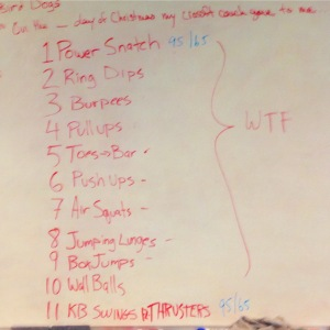 The 12 Days of Christmas (CrossFit style)