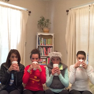 Heather, Laura, Hollie, and myself just cheezin' with some coffee.