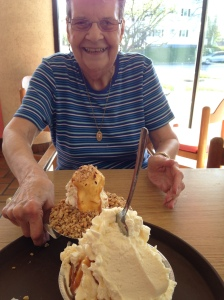 Rest day = ice cream for dinner with Grandma.  Refuel and recover, amirite?