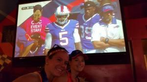 Right after a Buffalo Bills' touchdown -- celebration!