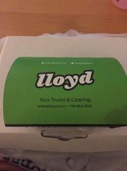 My first Lloyd's taco.